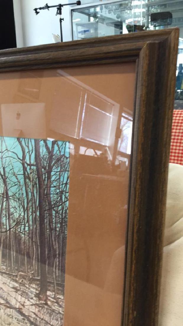 Framed Print Deer In Woods Wood framed and matted print - 5