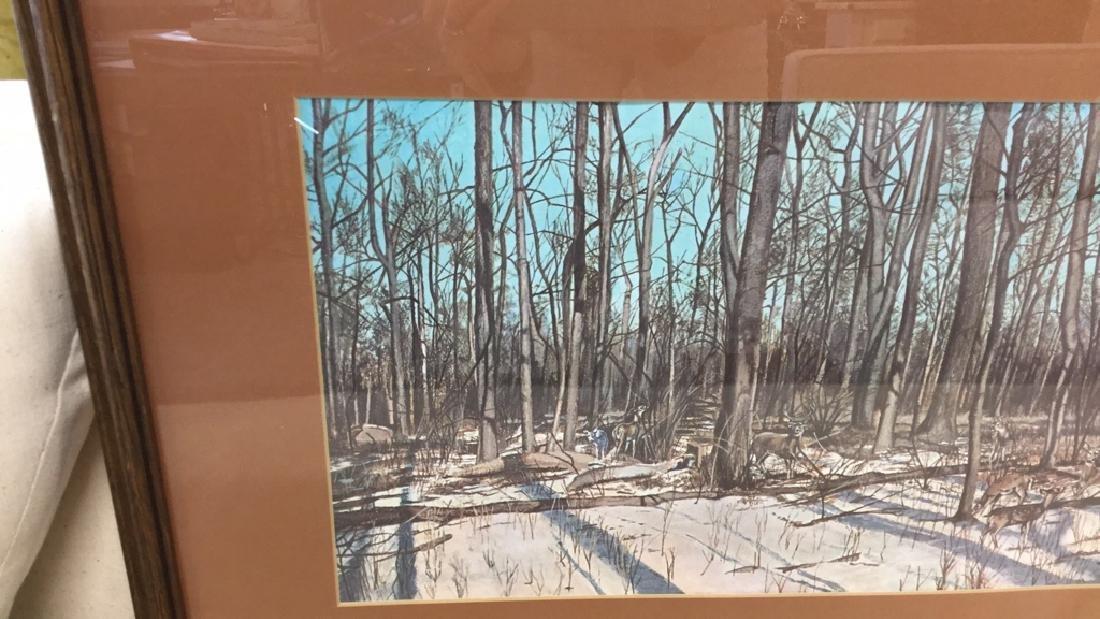Framed Print Deer In Woods Wood framed and matted print - 8