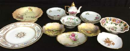 Hand Painted Limoges France Tabletop Porcelain Assorted