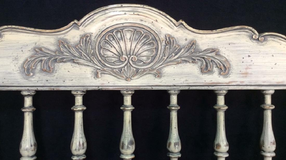 Pair White Washed Wood Twin Headboards Pair of country - 3