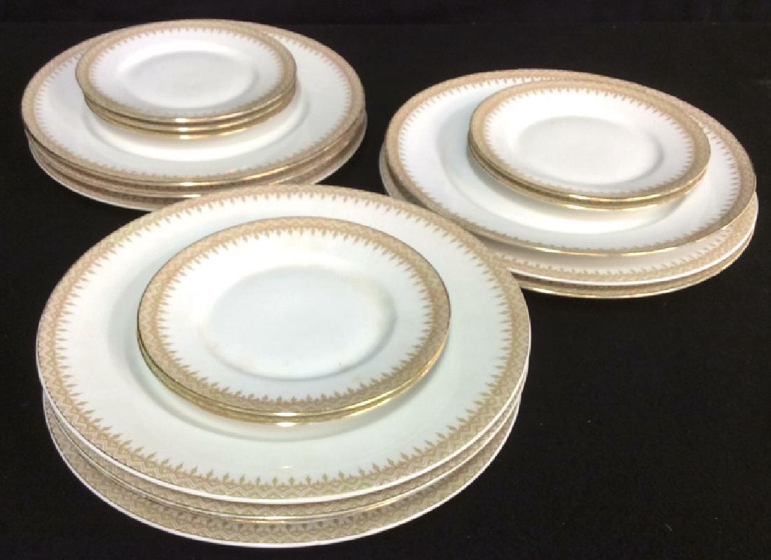 Partial Porcelain Dinner Service Limoges France 10