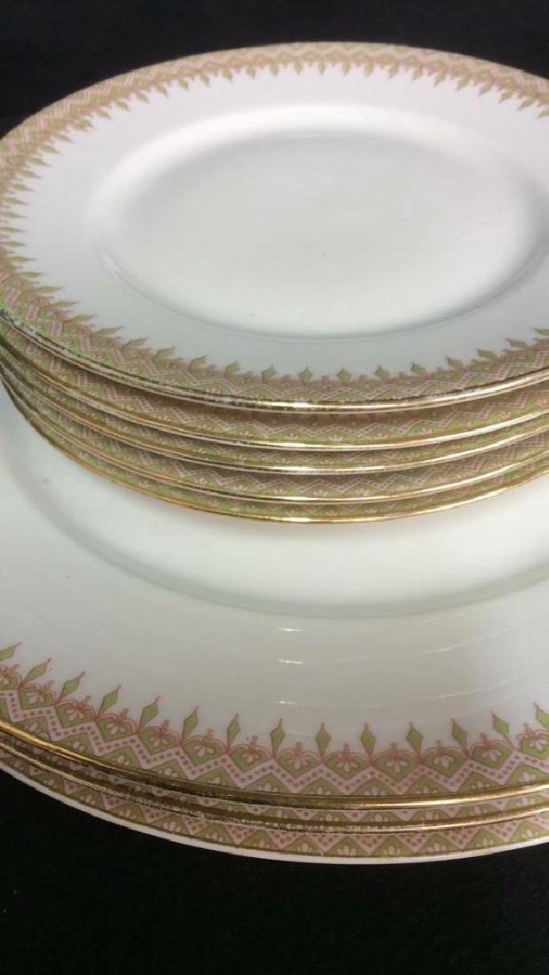 Partial Porcelain Dinner Service Limoges France 10 - 7