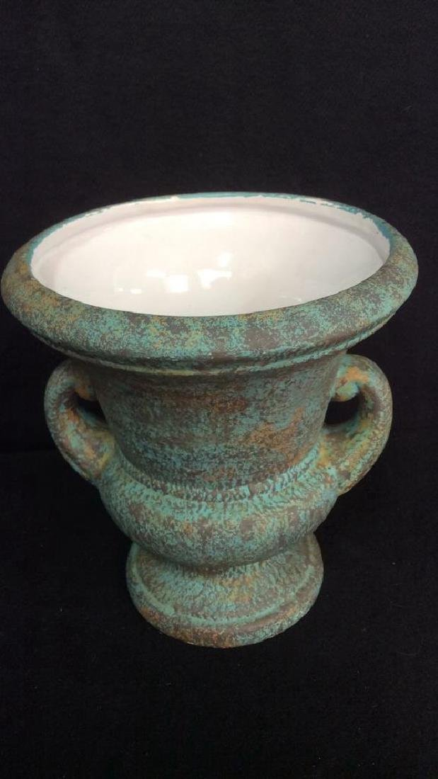 Pottery Display Plate And Urn Vase Hand made pottery - 2
