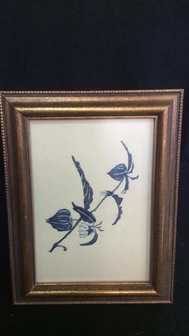 Group 6 Picture Frames, Brass , Wood, Pewter Antique - 2