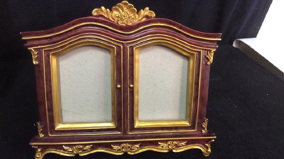 Group 6 Picture Frames, Brass , Wood, Pewter Antique - 3