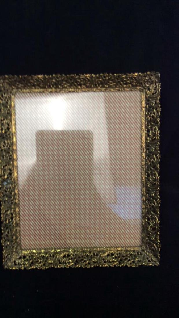 Group 6 Picture Frames, Brass , Wood, Pewter Antique - 5