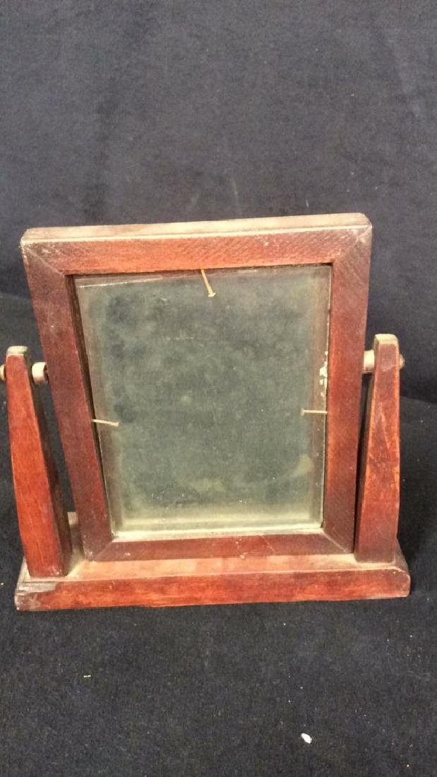 Group 6 Picture Frames, Brass , Wood, Pewter Antique - 8