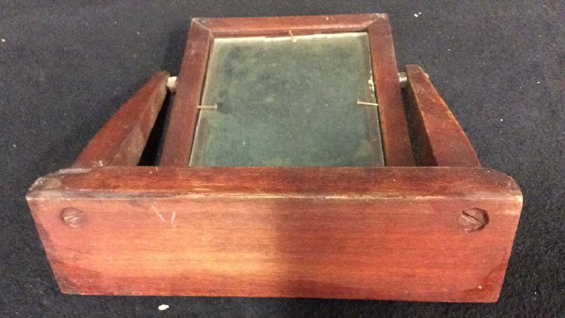 Group 6 Picture Frames, Brass , Wood, Pewter Antique - 9