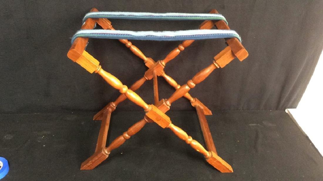 Vintage Folding Luggage Rack Carved Folding luggage - 5