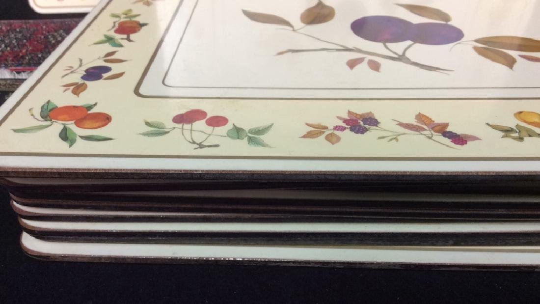 Royal Worcester Placemats And Coasters Placements of - 8