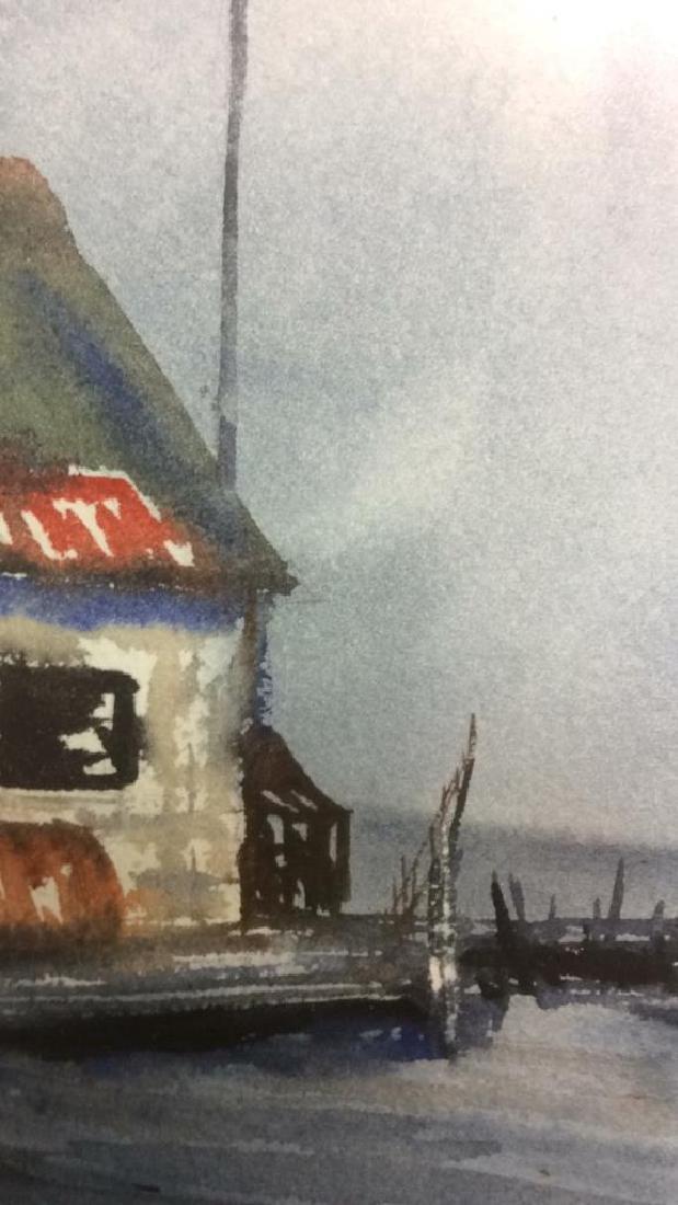Framed Harbor Scene Artwork Joy Clayton Framed and - 10