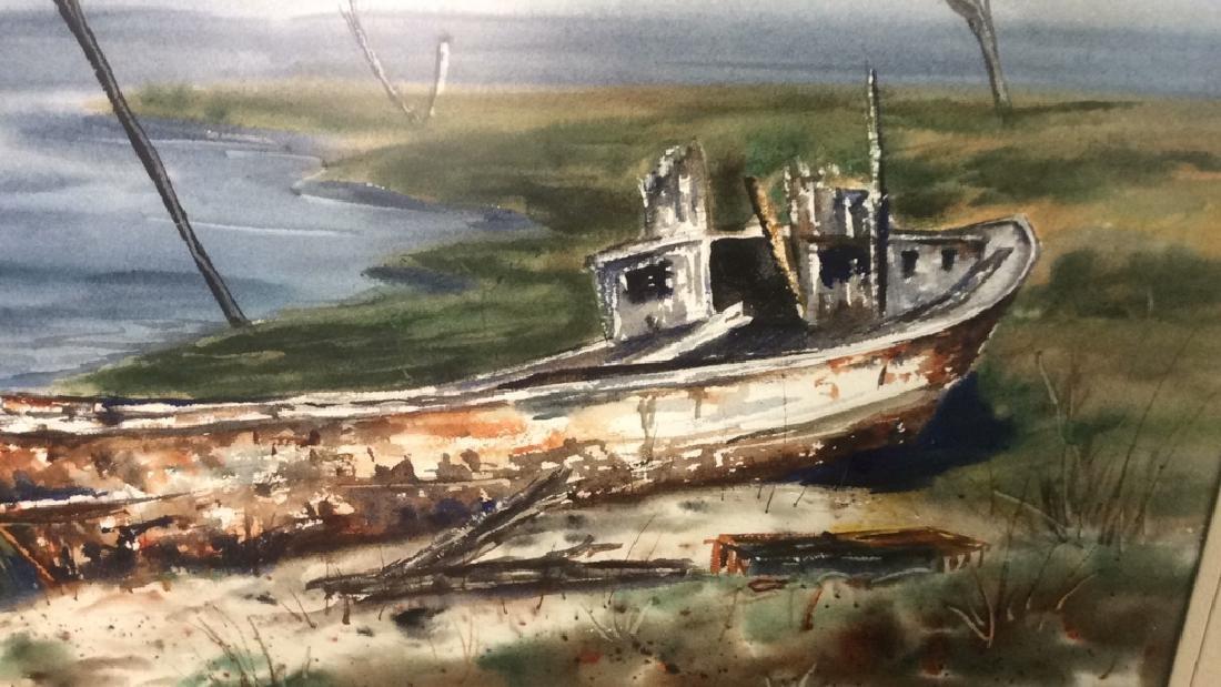 Framed Harbor Scene Artwork Joy Clayton Framed and - 4