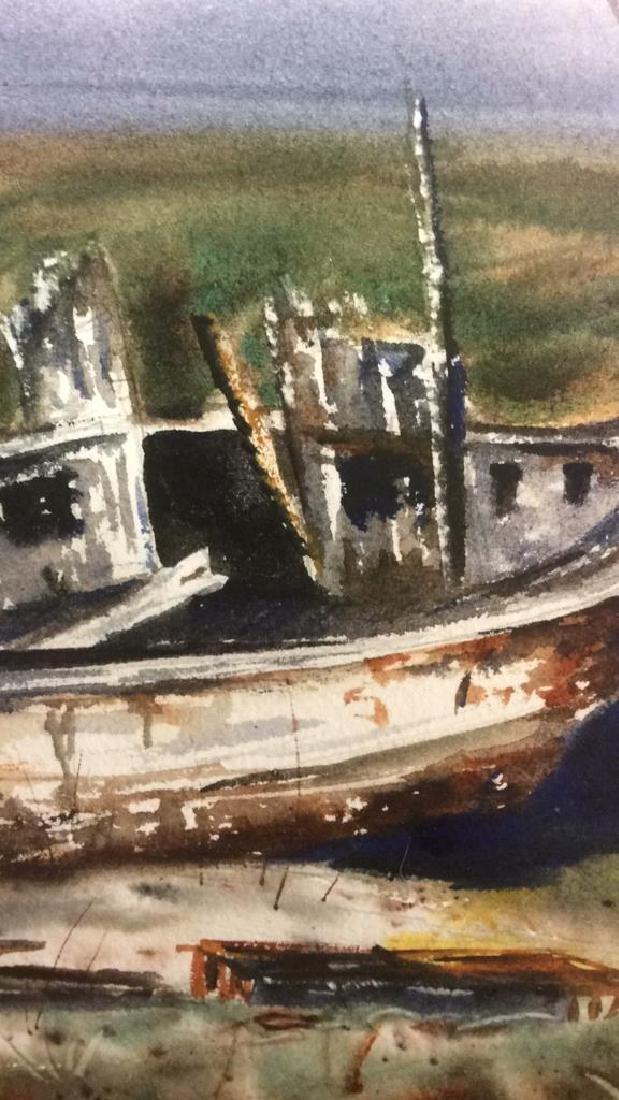 Framed Harbor Scene Artwork Joy Clayton Framed and - 5