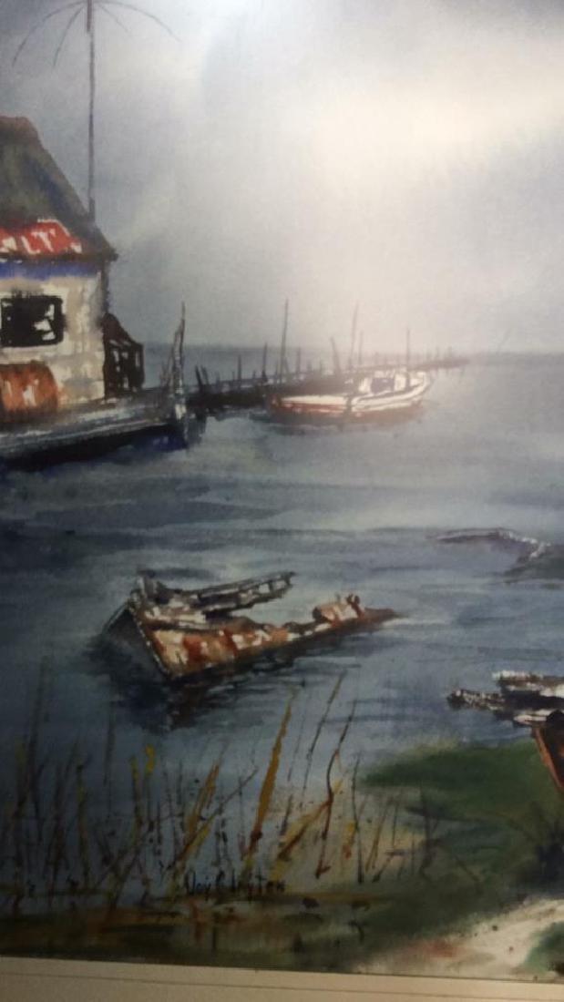 Framed Harbor Scene Artwork Joy Clayton Framed and - 6