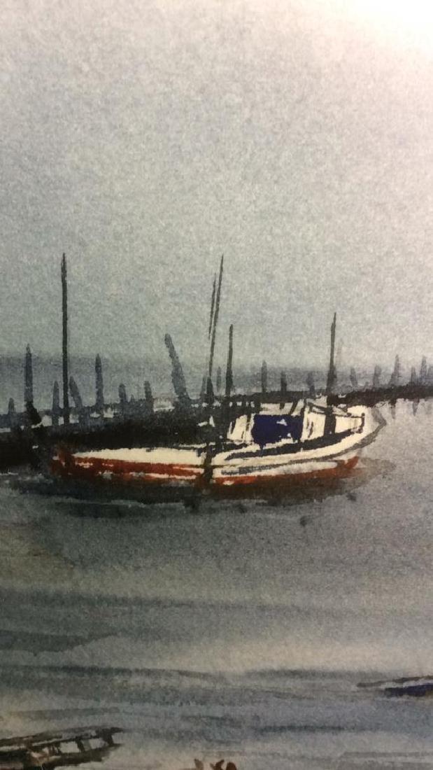 Framed Harbor Scene Artwork Joy Clayton Framed and - 9