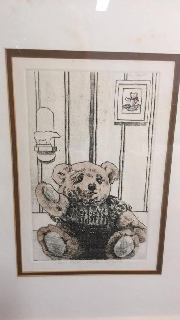 Framed Lithograph Of Teddy Bear Framed Lithograph Of - 8