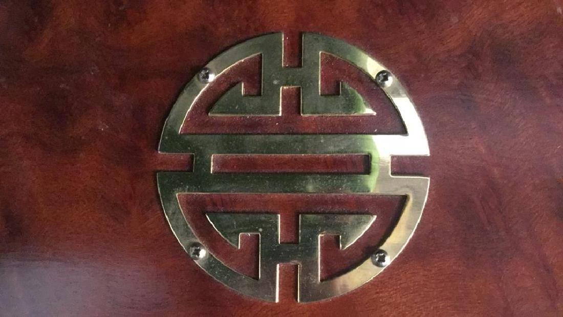 Wood And Brass Chinese Jewelry Box Jewelry box is - 6