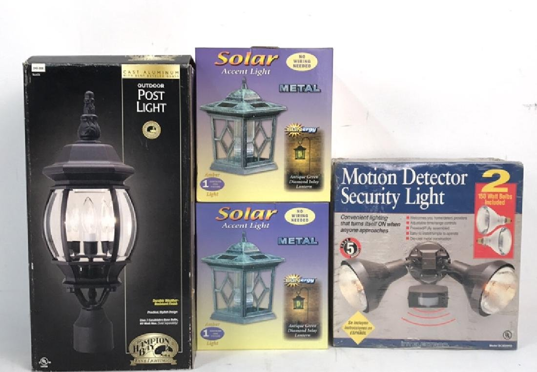 Group Lot 4 Outdoor Lights In Boxes Group Lot 4 Outdoor