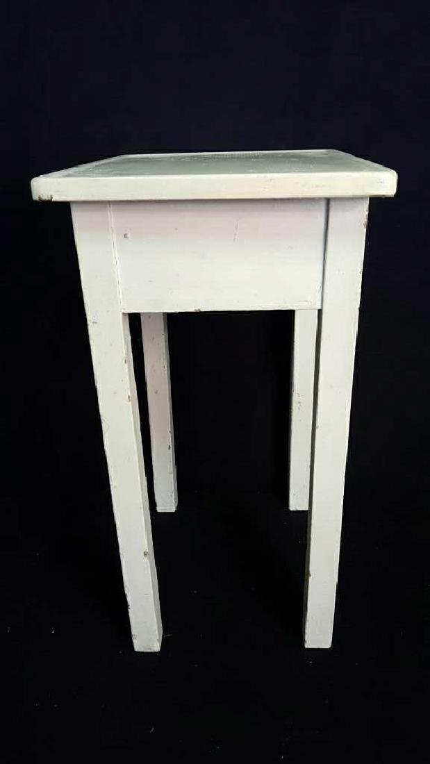 Wood and Metal Painted Side Table Wood and Metal - 6