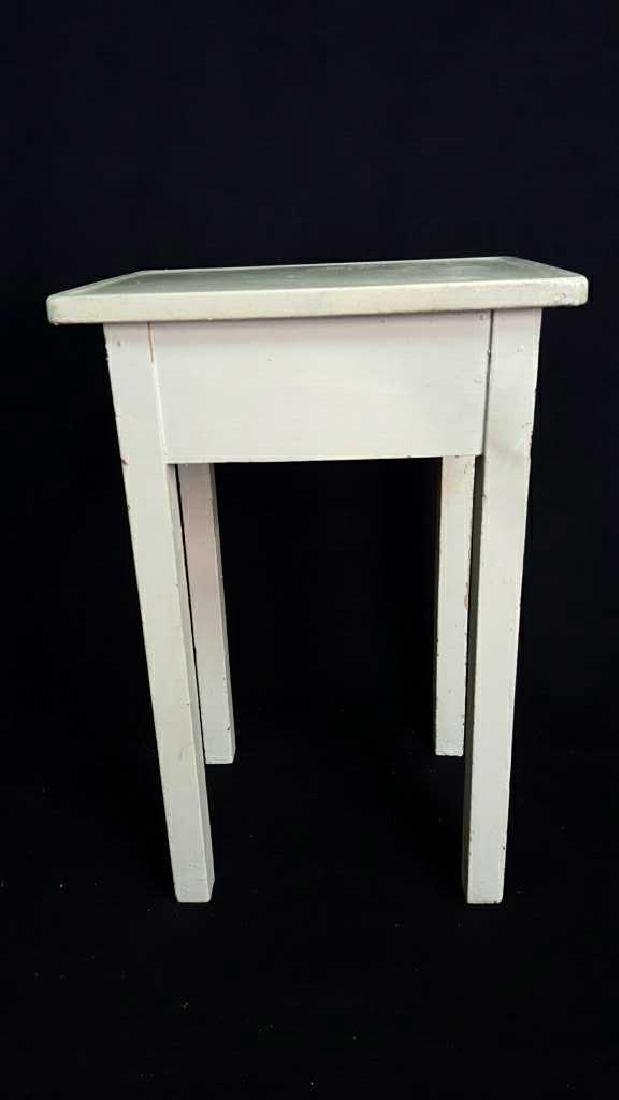 Wood and Metal Painted Side Table Wood and Metal - 7