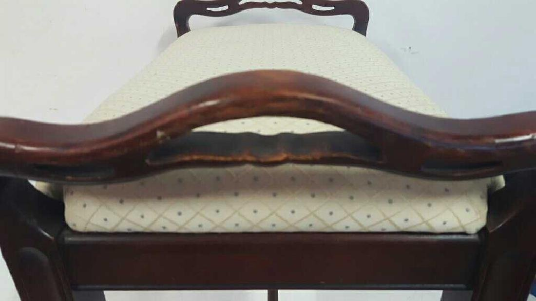 Carved and Upholstered Bench Carved and upholstered - 3
