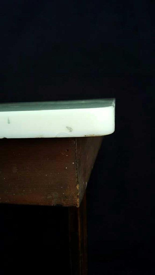 Marble and Wood Side Table Marble and Wood Side Table, - 6