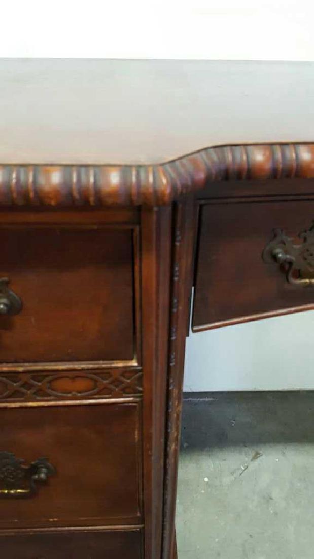Vintage HATHAWAY'S Wood Desk Vintage Seven Drawer Wood - 3