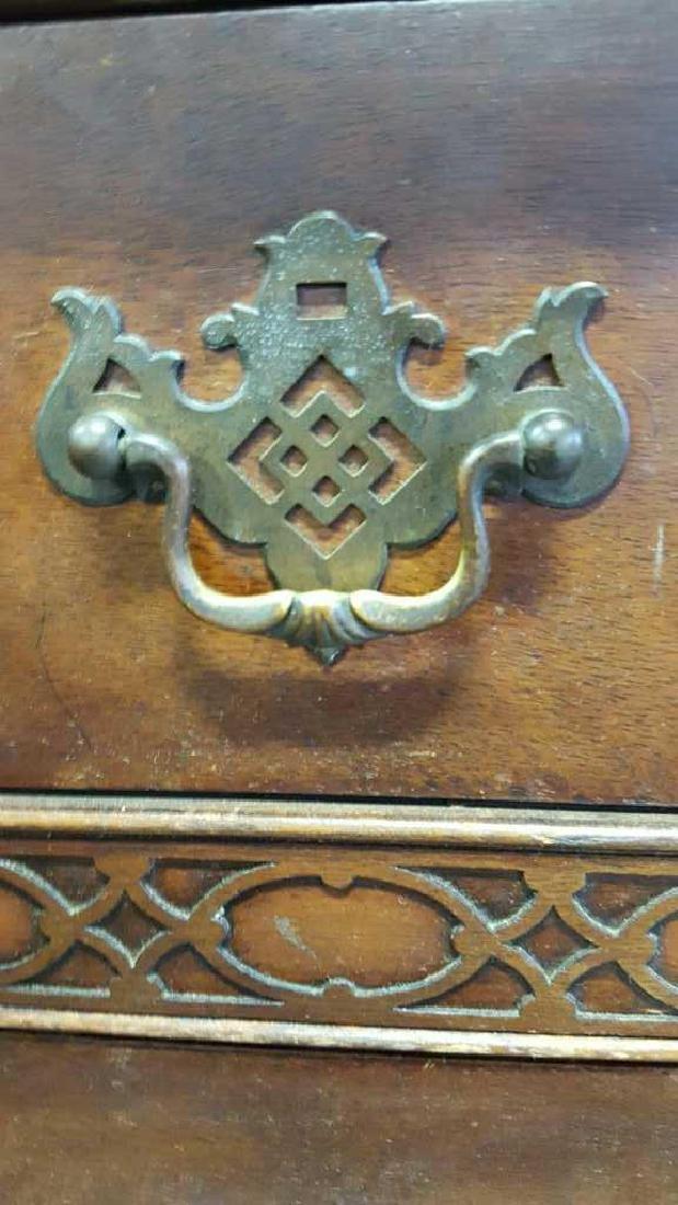 Vintage HATHAWAY'S Wood Desk Vintage Seven Drawer Wood - 5