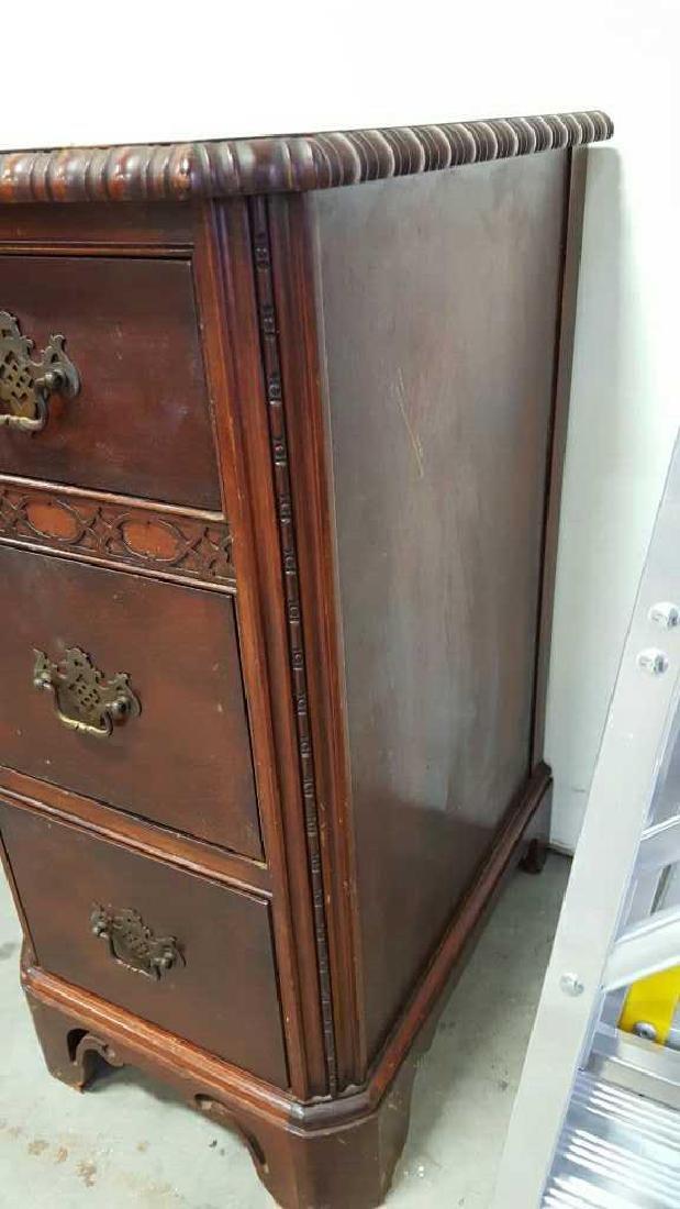 Vintage HATHAWAY'S Wood Desk Vintage Seven Drawer Wood - 8