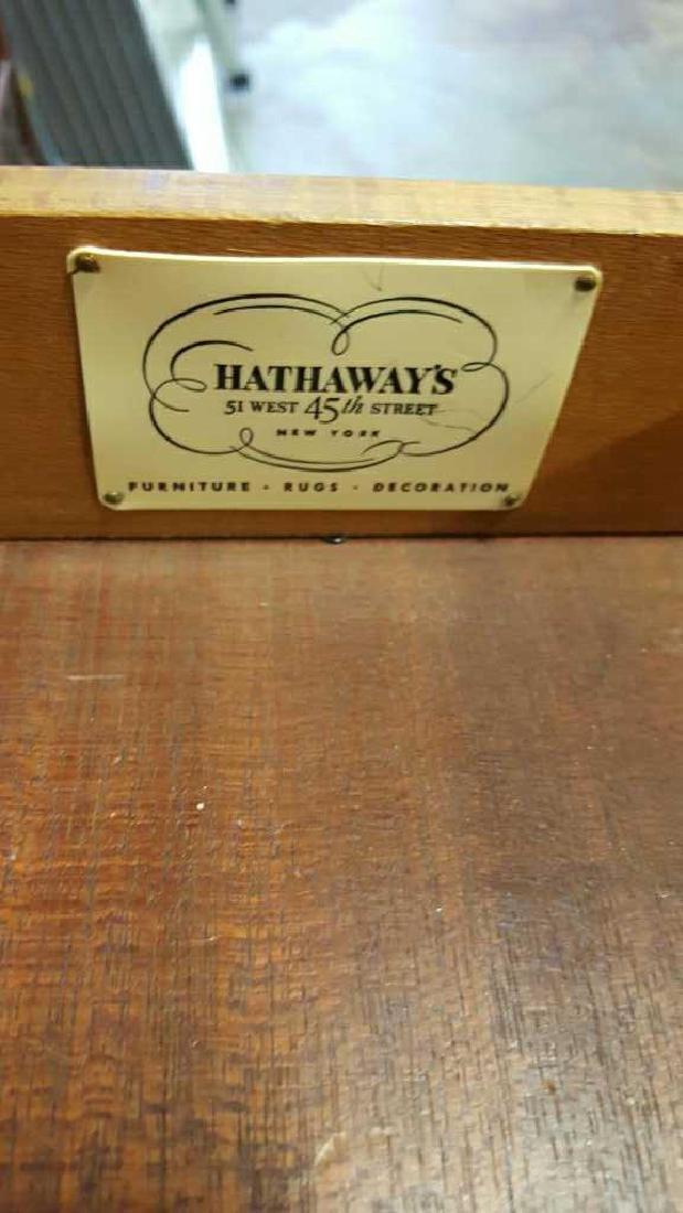 Vintage HATHAWAY'S Wood Desk Vintage Seven Drawer Wood - 9