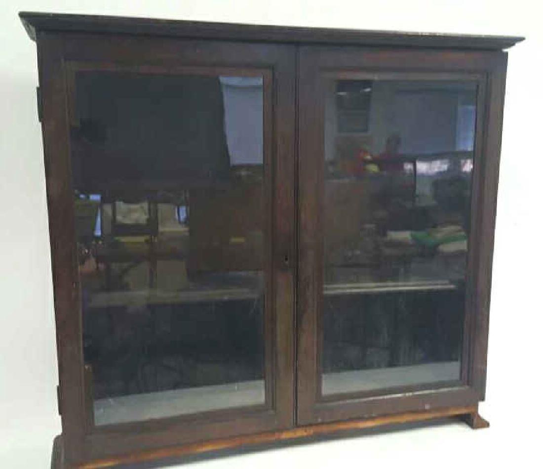 Antique Wooden Glass Door Cabinet This lot consists of