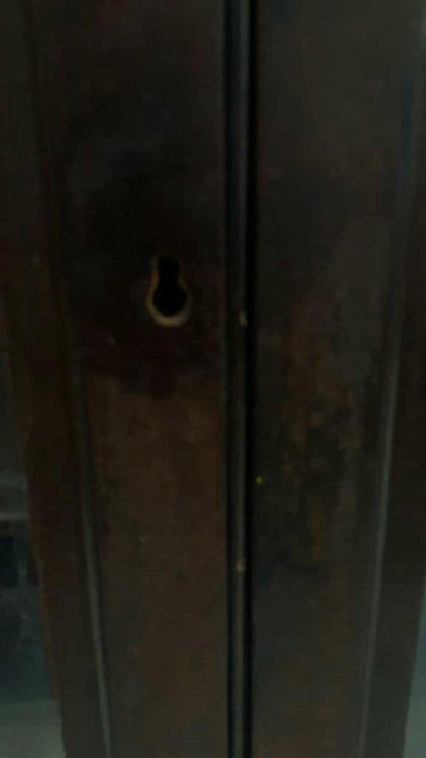 Antique Wooden Glass Door Cabinet This lot consists of - 2