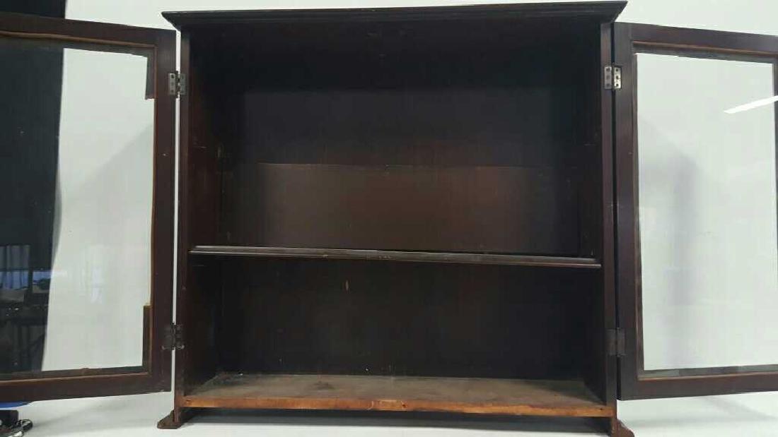Antique Wooden Glass Door Cabinet This lot consists of - 3