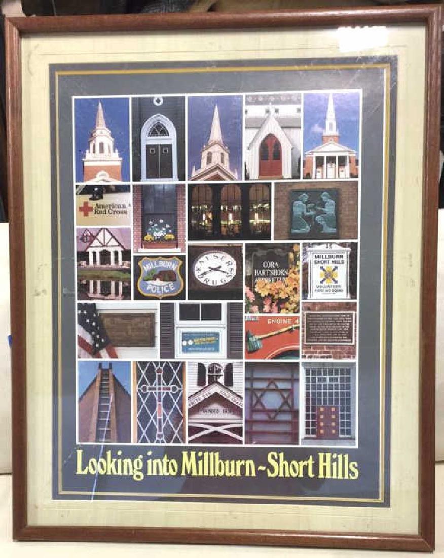 Framed Millburn-Short Hills New Jersey Poster Poster