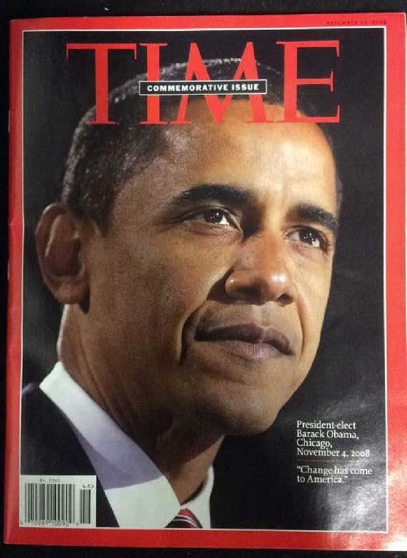 Collectible Time Magazine Obama Nov 17 2008 Time