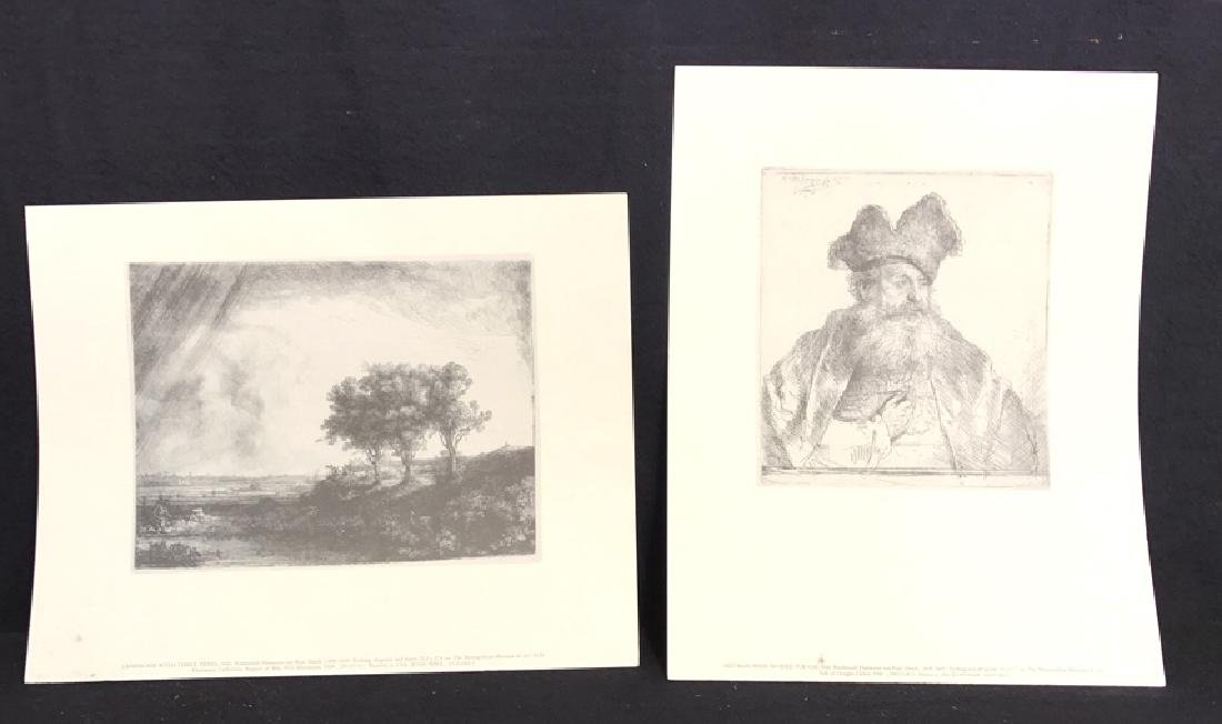 Pair Of Metropolitan Etching Prints Pair Of