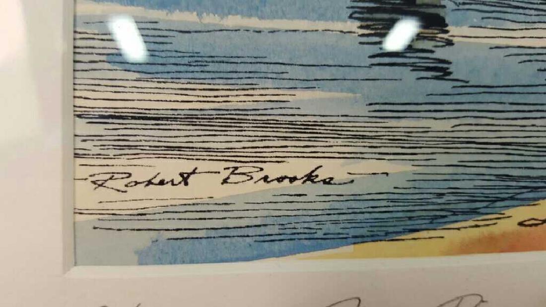 Signed Robert Brooks Artwork Signed Robert Brooks - 3