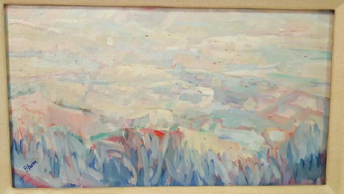Signed Blum Painting Abstract on Cavas Signed Blum - 2