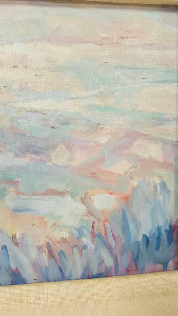 Signed Blum Painting Abstract on Cavas Signed Blum - 3