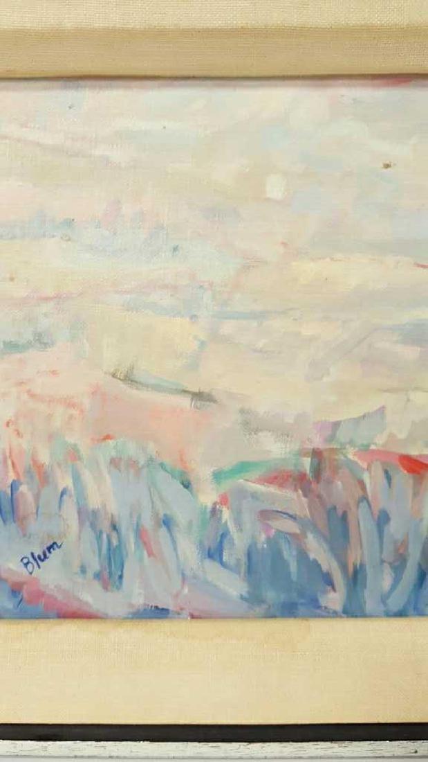 Signed Blum Painting Abstract on Cavas Signed Blum - 4