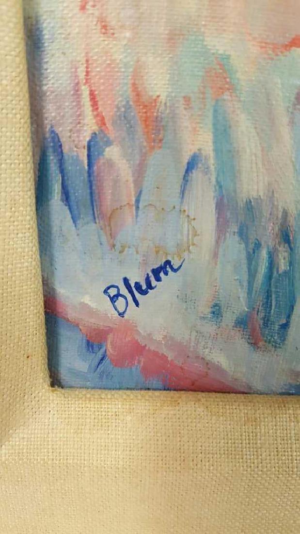 Signed Blum Painting Abstract on Cavas Signed Blum - 5