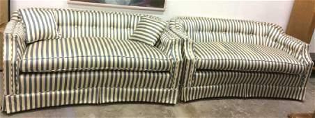 Pair Custom Upholstered Love Seats
