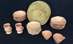 Group Of Vintage Tabletop China  Wicker Placemats