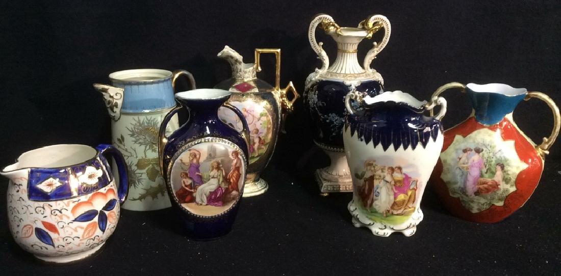Antique Victorian Porcelain Vases Vases and pitchers