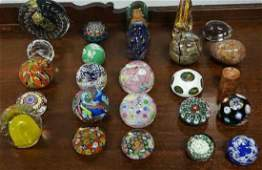 Group Murano Glass Paper Weights Group