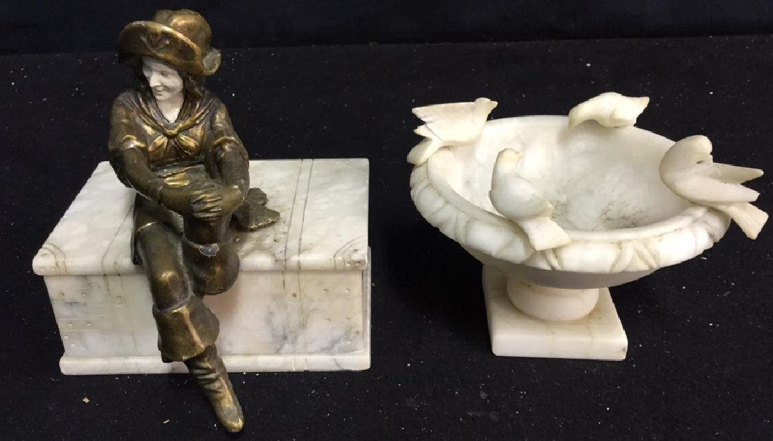 Antique Marble and Bronze Statues