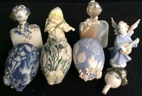 Group Vintage Collectible Porcelain 2 Angel figurines ,
