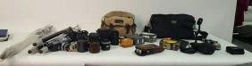 Group Lot of Vintage Cameras and Assessories Group Lot