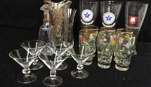 Group Vintage Crystal Glass Group Group lot of vintage