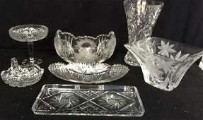 Vintage Cut Crystal Serving Pieces Table top bowls